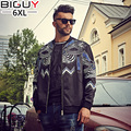 Fat 140 kg Men Autumn Jacket 2016 New Fashion Korean Male Baseball Jackets Black Loose Jacket Men 6xl 5xl 1097jack