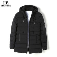 KENNTRICE Winter Jacket Parka Men Coat Mens Long Jackets Nylon Quilted Jacket Winter Coat Male Plus Size Hooded Coat Anorak(China)