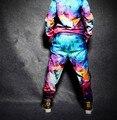 New fashion adulto das mulheres dos homens da marca calças corredores moletom estrela trajes galaxy harem hip hop dance calças