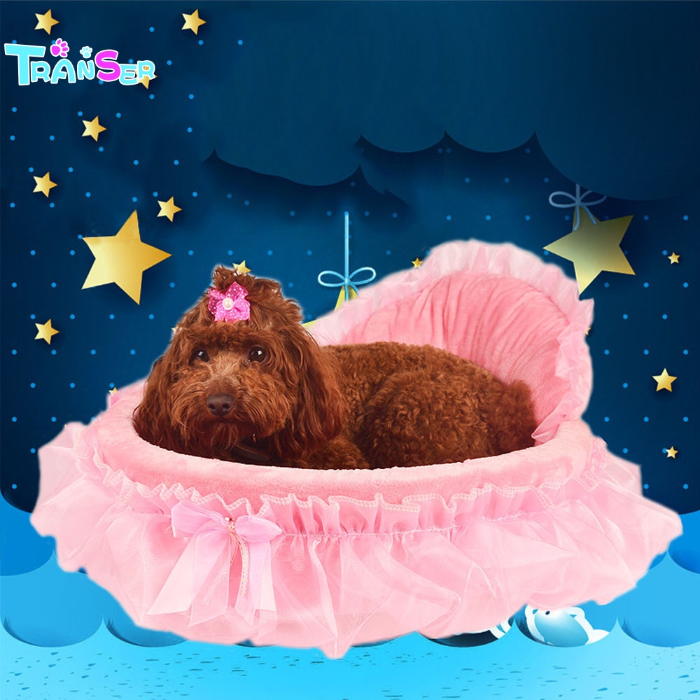 Transer Pet Dog Puppy Princess Bows Lace Heart Elegant Lovely Bed Doghouse Pet Warm Bed Drop shipping J9w30 ...