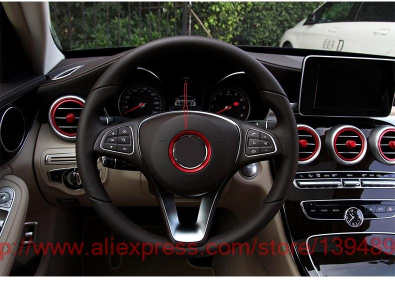 Car steering wheel standard decorative circle modified sequins decal 3D sticker for Mercedes Benz C Class W205 bead