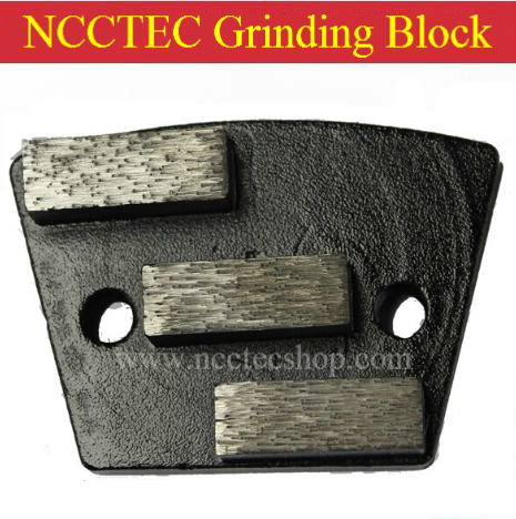 NCCTEC Grinding Shoes With 3 Diamond Segments FREE Shipping | Metal Bond Concrete Grinding Pads Blocks