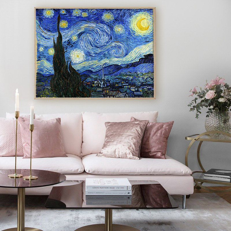 Van Gogh Starry Night Abstract Landscape Canvas Poster Famous Classic Wall Art Print Decorative Picture Modern Van Gogh Starry Night Abstract Landscape Canvas Poster Famous Classic Wall Art Print Decorative Picture Modern Living Room Decor