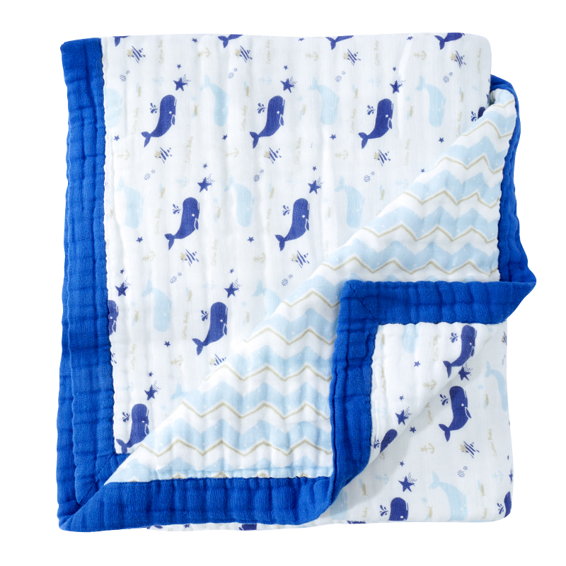 120*150 cm mousseline coton 6 couches bébé couverture (avec 12 couches de gaze) bébé lange d'emmaillotage épaissir bébé couverture enfants literie couverture