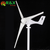 March Sales Promotion Small Wind Turbine 12V 24V 400W Wind Generator And 600w Wind Charge Controller