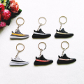 Mini Silicone YEEZY BOOST 350 V2 Keychain For Kids Man Women Key Rings Key Holder Gift Sneaker SPLY-350 Key Chain