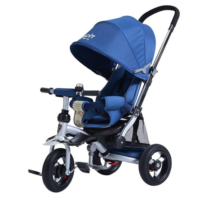 Alta Qualidade Carrinho de Bebê triciclo 3 crianças Triciclo Carrinho de Rodas de borracha e alumínio frame da liga