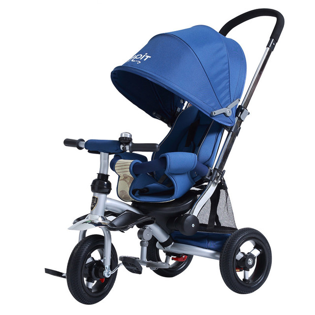 High Quality Baby Stroller trike 3 rubber Wheels and aluminum alloy frame kids Tricycle Cart