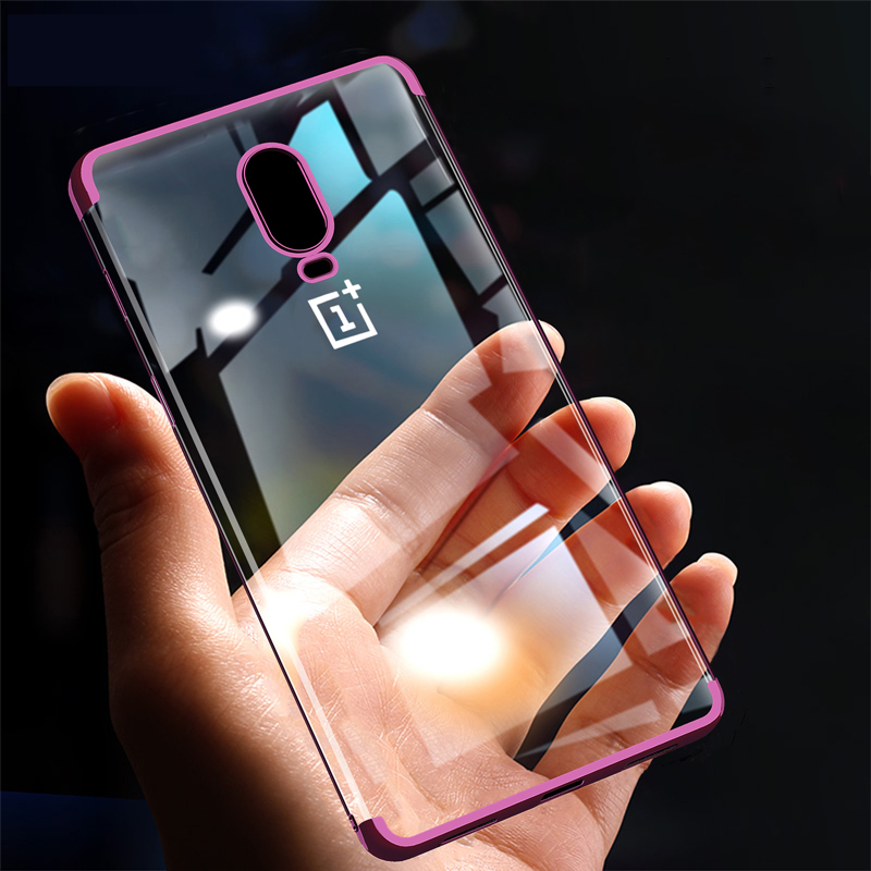 For <font><b>Oneplus</b></font> 7 Pro <font><b>Case</b></font> Luxury <font><b>3D</b></font> Laser Plating TPU Cover For One Plus 7 Oneplus7 6T <font><b>6</b></font> Soft Transparent Silicone Phone <font><b>Cases</b></font> image