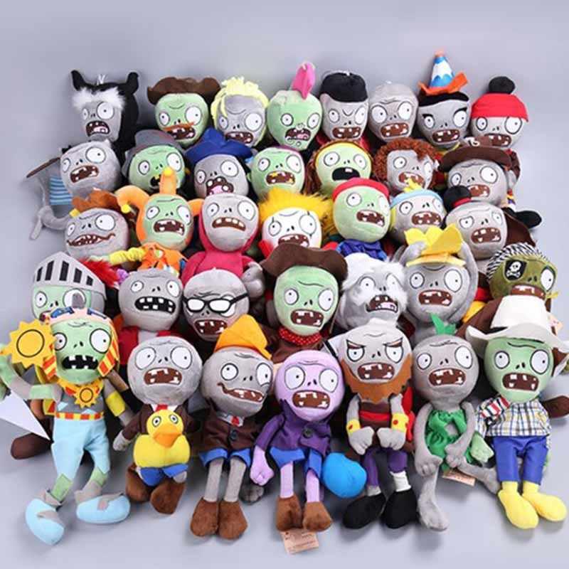 23 Gaya Plants Vs Zombies Mainan Mewah 30 Cm Plants Vs Zombies Boneka Lembut Mewah Mainan Boneka Bayi Mainan untuk anak-anak Hadiah Pesta Mainan