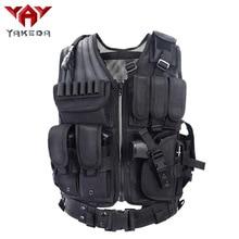 YAKEDA Police Military Tactical Vest Wargame Body Armor Spor