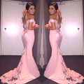 Mermaid Lace Bridesmaid Dresses Long  Appliques Sweetheart Pink Bridesmaid Dress For Women
