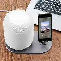 Yiwa Compatible Apple HomePod & Cellphones Stand Non Slip HomePod Coaster Wall Mount Stand