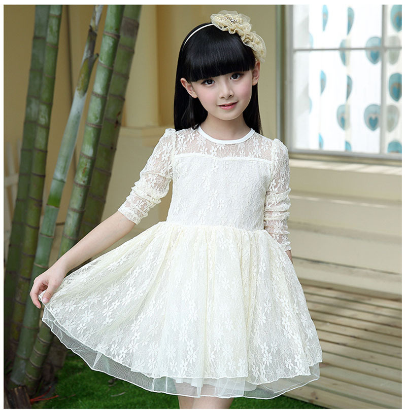 Beautiful Baby Girl Dress Long Sleeve Lace Dress Baby