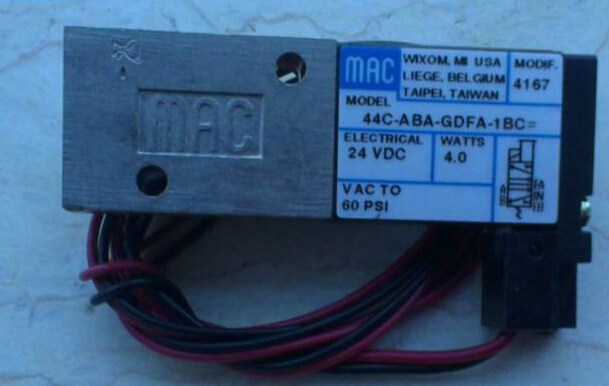 New and original America MAC solenoid valve 44C-ABA-GDFA-1BC mac high speed solenoid valve 34b aba gdfa 1ka