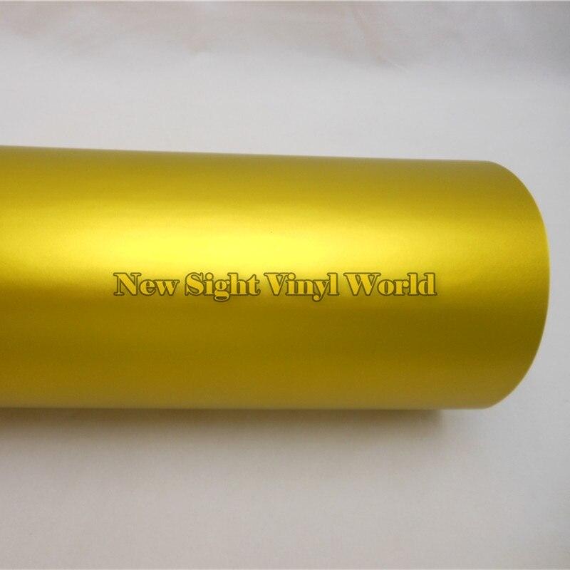 Высокое качество Матовый Металлик Обёрточная бумага матовое золото металла винил Обёрточная бумага рулон для внешней обклейки автомобиля Обёрточная бумага s