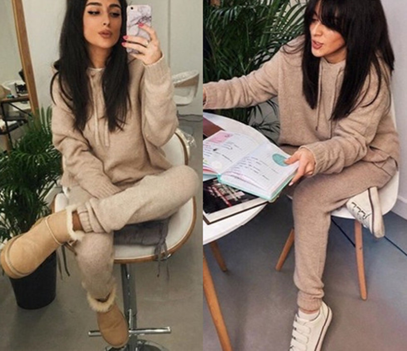 2017 Sale Direct Selling Cotton Polyester Full O neck Tracksuits font b Women s b font