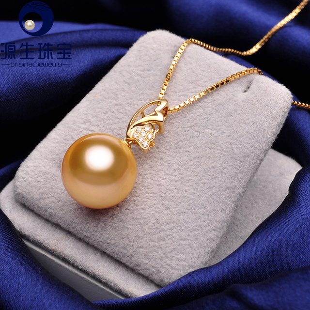 Pearl jewelry golden south sea pearl pendant perfect round 11 12mm pearl jewelry golden south sea pearl pendant perfect round 11 12mm pearl 18k gold diamond aloadofball Image collections
