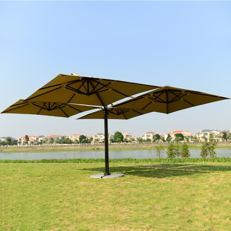 12pcs PACK, 4 In 1 Patio Garden Parasols Umbrella Awnings / 2.5x2.5m Each Umbrella Extended / 5.5x5.5m Whole Set