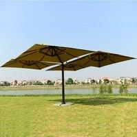 4 в 1 Патио Сад Зонт тенты/2,5x2,5 м каждый зонтик расширенный/5,5x5,5 весь набор