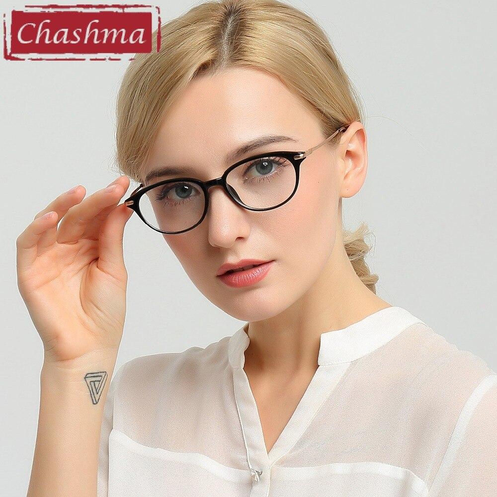 Chashma Brand Women Eyewear Cat Eyes Glasses Frames Fashion Stylish Fresh Optical Eyeglasses Female reflection