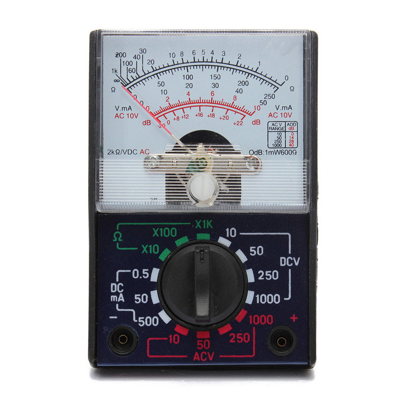 Electric Multimeter MF-110A AC/DC OHM Voltmeter Ammeter Analog Measuring Tool Meter