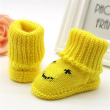 TELOTUNY New Fashion Trendy Toddler Newborn Baby Knitting Lace Crochet Shoes Buckle Handcraft Cute Yarn Shoes Z0828(China)