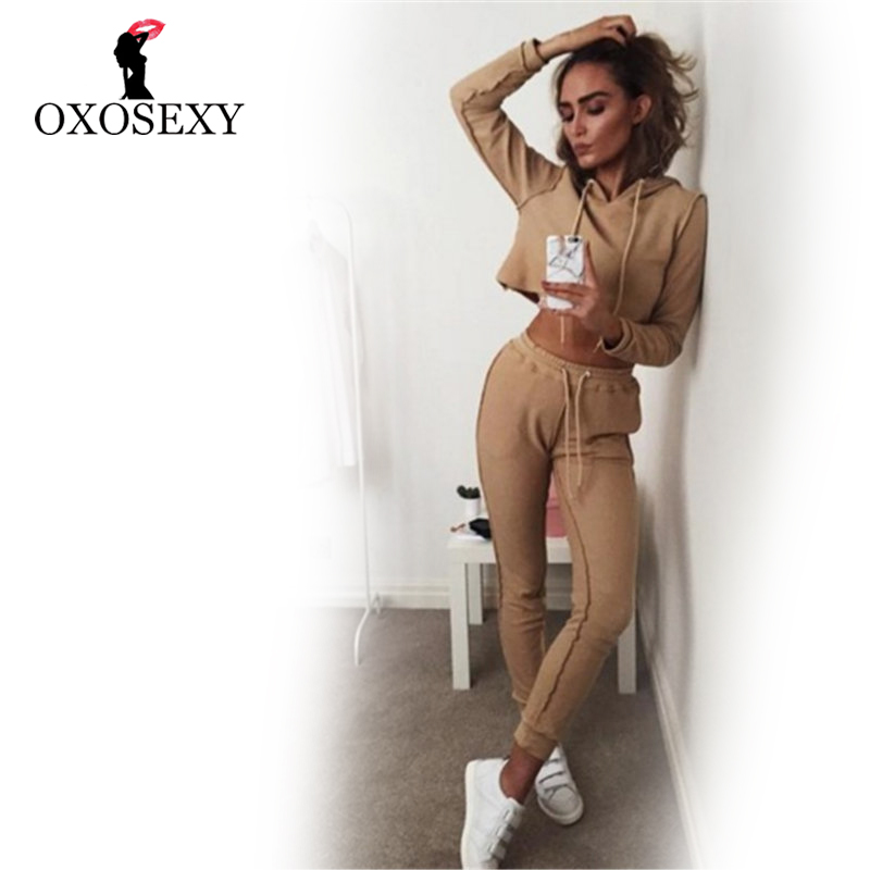 Autumn and winter Women Fitness Sports Suit Set Hooded Long Sleeves Running Set Female Gym Clothes Women Jogging Tracksuit 2017