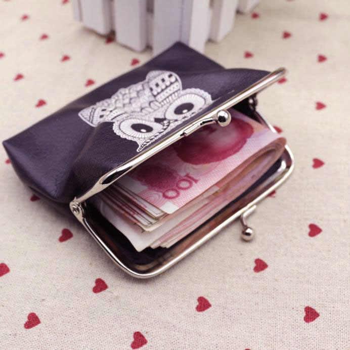 Aelicy portemonnee leer vrouwen portefeuilles met broekzak handtas tas portemonnee credit card portemonnee vrouwen Uil Hoge Kwaliteit