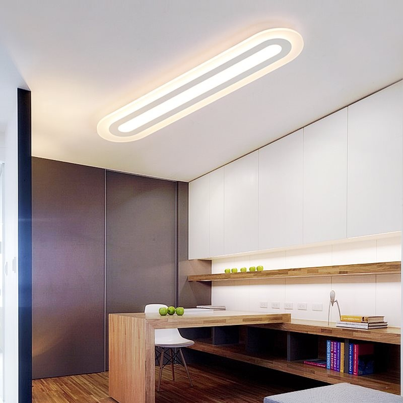 ceiling lights for living rooms red rug room best price minimalist acrylic led light bedroom study restaurant office lamp commercial lighting