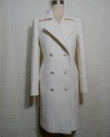 Высокое качество Женское пальто, элегантный casaco feminino, Белый Зимняя куртка женские шерсть Inverno casaco, плюс размер удивительные длинное пальто