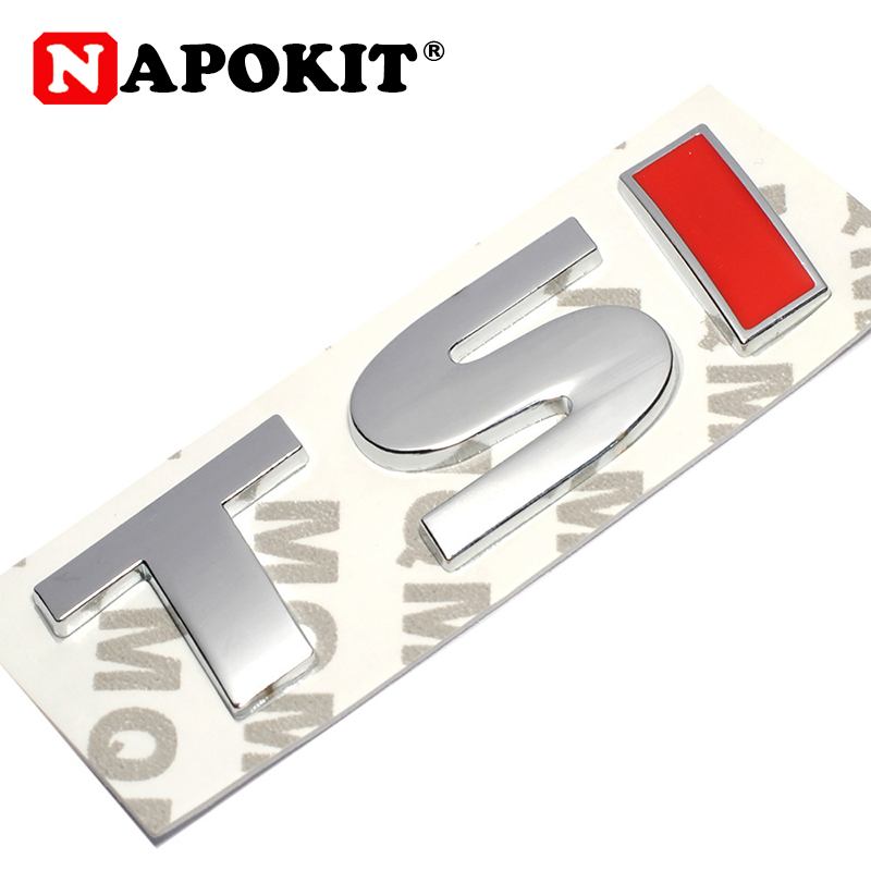 Brand 3D Metal TSI Emblem Car Styling Badge Sticker Decal for VW <font><b>Volkswagen</b></font> Tiguan Polo Golf 4 5 6 MK6 TSI Car-Styling 8*2.3cm image