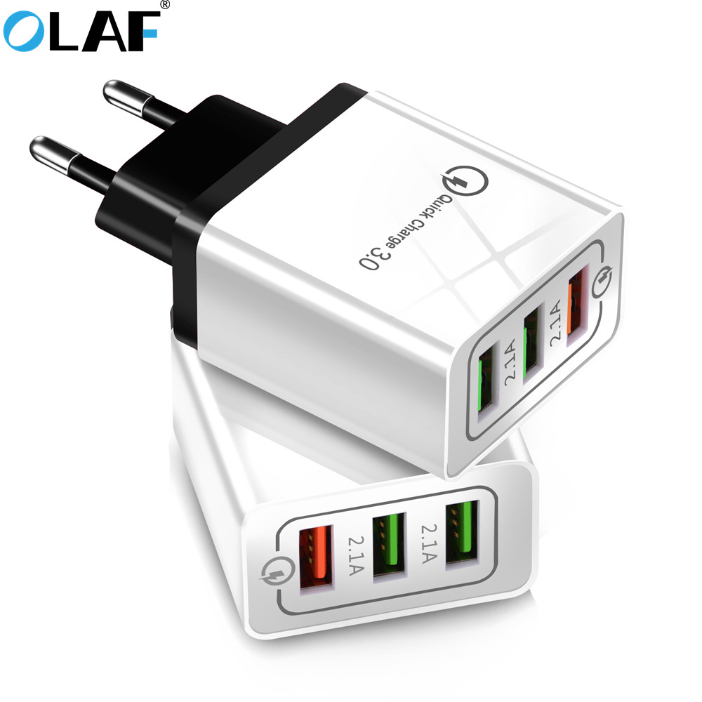 Olaf USB Charger Quick Charge 3.0 For IPhone X 8 7 IPad Fast Wall Charger For Samsung S9 Xiaomi Mi 8 Huawei Mobile Phone Charger(China)