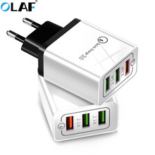 Olaf USB Charger quick charge 3.0 for iPhone X 8 7 iPad Fast Wall Charger for Samsung S9 X