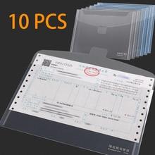 A5 file folder Invoice special invoice bag storage tax ticket small bill plaid transparent trumpet