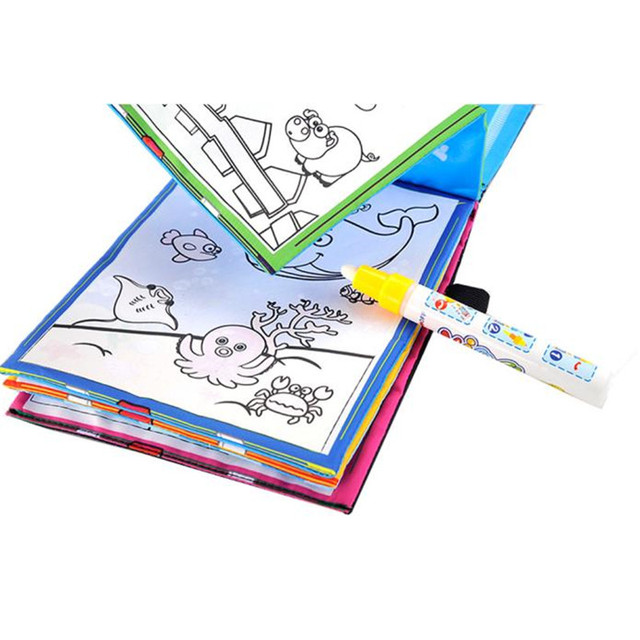 Snowshine3 5003 Magic Water Drawing Book Coloring Doodle Pen Animals Painting Table Game