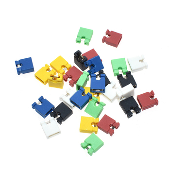 100PCS Pitch jumper shorted cap & Headers & Wire Housings 2.54MM SHUNT