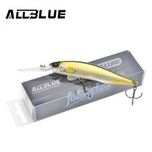 ALLBLUE New JERKBAIT Professional 100DR Fishing Lure 100mm 15.8g Suspend Wobbler Minnow Depth 2-3m Bass Pike Bait MUSTAD Hooks