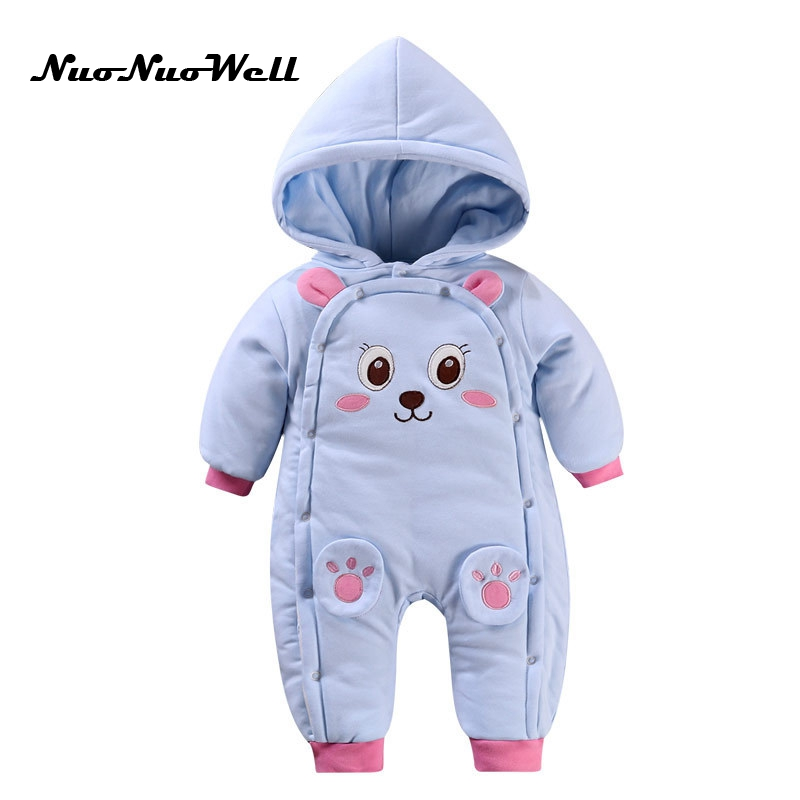NNW Baby Winter Jumpsuit Newborn Baby Boys Girls Romper 2017 Winter Thick Romper Long Sleeve Hooded Outwear Infant Baby Overalls puseky 2017 infant romper baby boys girls jumpsuit newborn bebe clothing hooded toddler baby clothes cute panda romper costumes