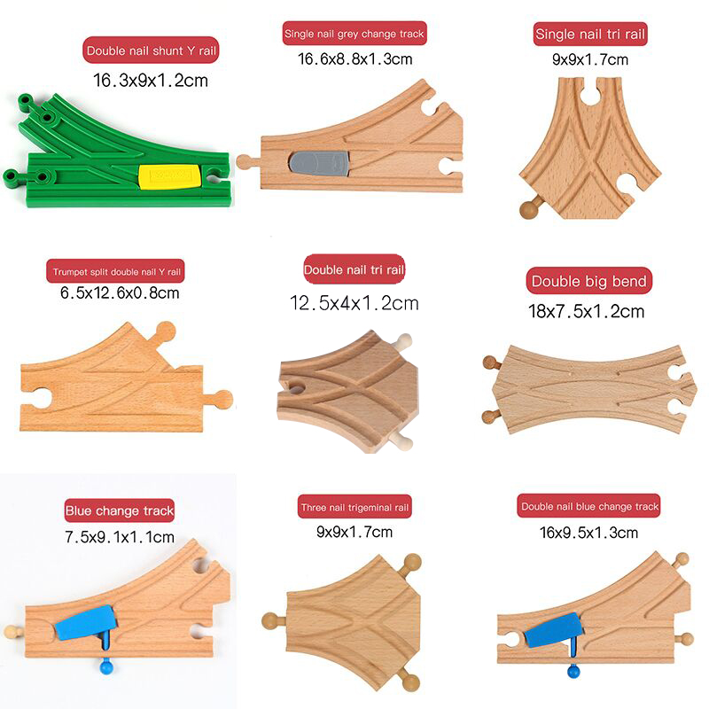 Wooden Track Train Railway Model Magic Magnetic Education Brio Vehicles Accessories Toys For Kids