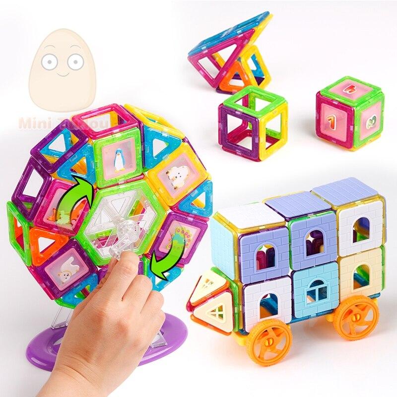 72-240PCS Mini Magnetic Designer Construction Set Model & Building Plastic Magnetic Blocks Educational Toys For Kids Gift