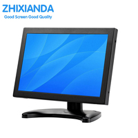 GC1016 10.1 inch wide screen touch monitor 1280*800 lcd resistive touch monitor with AV/BNC/VGA/HDMI interface