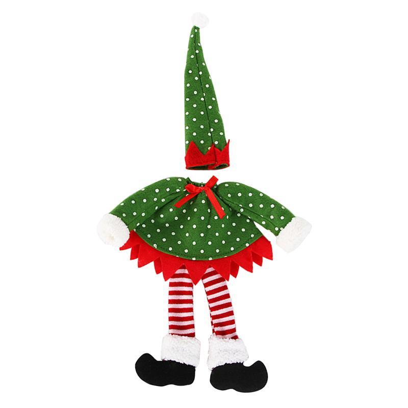 Stockings & Gift Holders Elf Christmas Table Chair Leg Feet Cover Wine Bottle Cover Bag Xmas Decor D4