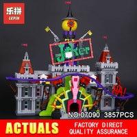 Лепин 07090 супер герой серии Джокер усадьба Комплект Горячая продажа 3857 шт. 70922 строительные блоки кирпичи игрушки модель для детей Подарки