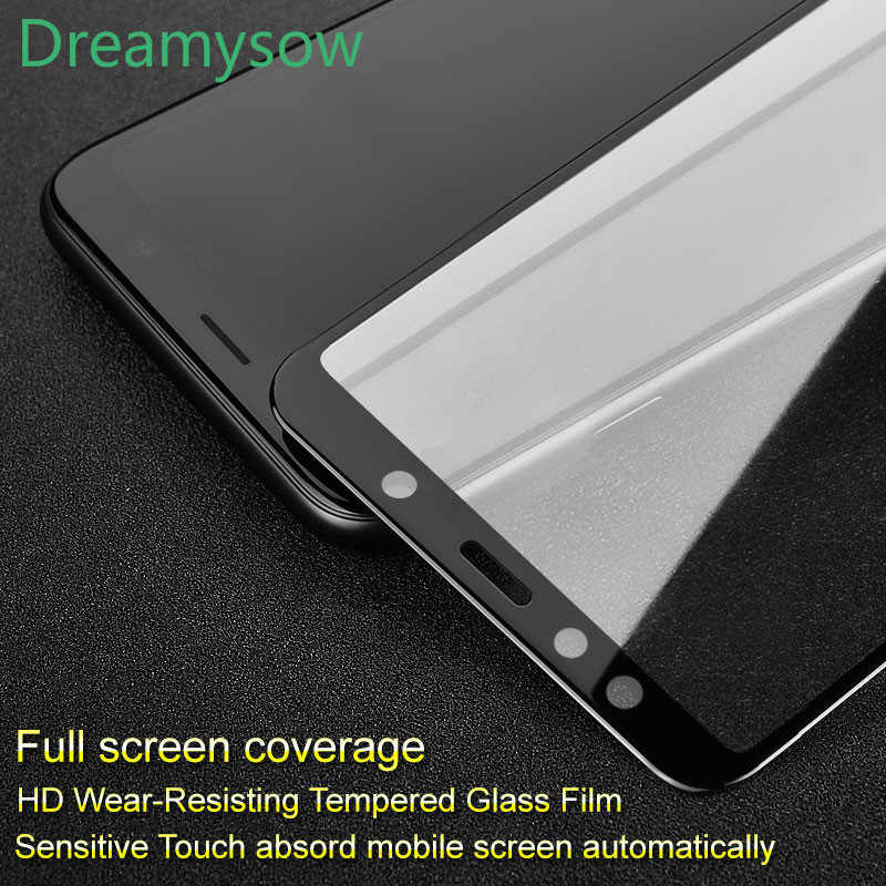 Full Cover Protective Glass for Samsung Galaxy M10 M20 S10E Safety Glass 9H Tempered Glass for A6 A8 2018 A50 Screen Protector