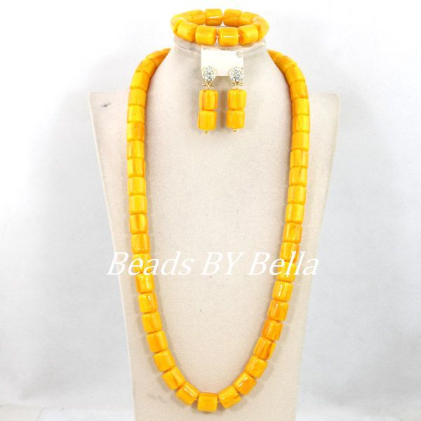 Charming Yellow Nigerian Wedding Party Beads Set African Beads Jewelry Set Fashion Indian Women Set New Hot Free Shipping ABY496Charming Yellow Nigerian Wedding Party Beads Set African Beads Jewelry Set Fashion Indian Women Set New Hot Free Shipping ABY496