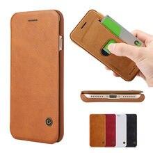5gcase Ретро Бизнес Стиль Ultra Slim флип чехол кожаный бумажник для iPhone 7 Plus чехол Коке capinha коричневый красные, черные