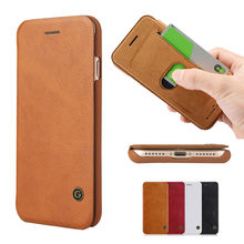 Slim Ultra Thin Leather Luxury Book Flip Wallet Hard Case with Card Holder for iPhone 7 Plus Brand Phone Cover Coque Capinha