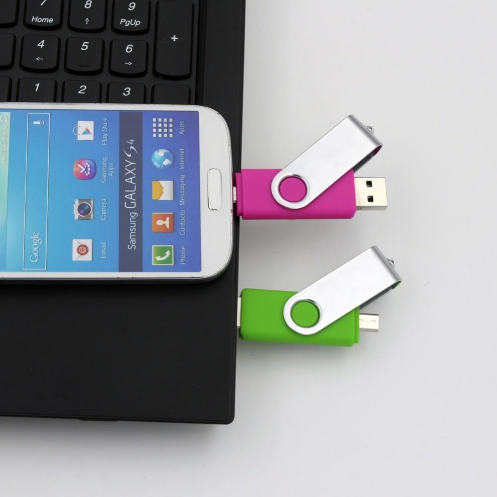 OTG usb flash drive 128gb 64gb memory stick USB 2.0 Pendrive for Android /Tablet /PC pen drive 32gb 16gb 32gb Micro USB Stick image