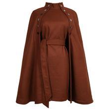 Пальто женское плащ двубортный воротник-стойка шерстяное пальто